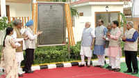 PM Narendra Modi inaugurates duplex flats for MPs at North Avenue