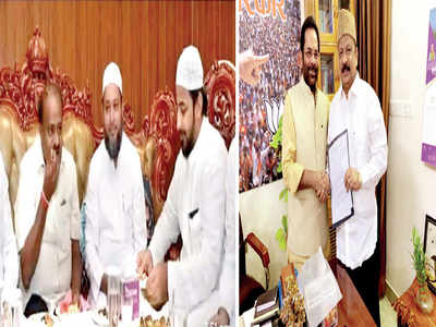 Unhappy Congress MLA Roshan Baig meets Union Minister for Minority Welfare Mukhtar Abbas Naqvi in Delhi