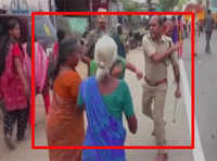 Shocking! Woman slapped by policeman during anti-liquor rally
