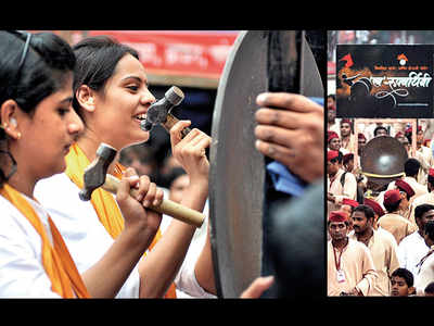 Gongs are being rung out of troupes this Ganeshotsav