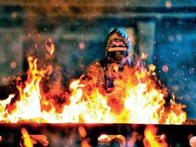Cremation begins at Vaikunth, only in night