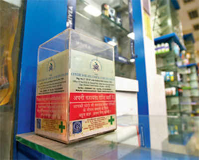 Donation boxes full of Rs 500, 1000 notes