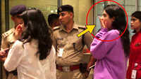 Funny! Janhvi Kapoor's sister Khushi Kapoor yawns in middle of security check at airport