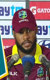 India vs Windies: Gained confidence with this match, says Shai Hope