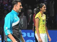 Akshay Kumar's badminton moment with PV Sindhu