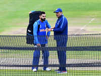 World Cup: Team India trains ahead of New Zealand clash