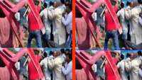 On cam: MP manhandled by villagers in Bihar, chairs hurled at him