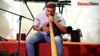 Australia's traditional instrument Didgeridoo was played by musician Leon James at Udalveli