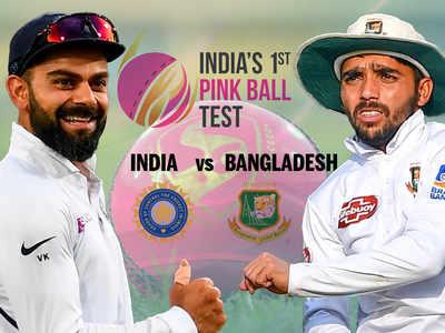 India vs Bangladesh, Pink Ball Test: Bangladesh 152/6 at stumps on Day 2, trail by 89 runs