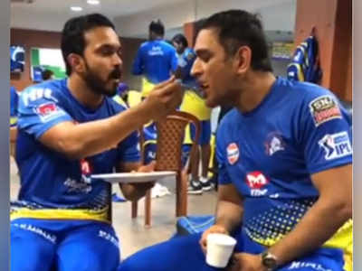 Watch: Kedar Jadhav and MS Dhoni's bromance after CSK wins a thriller against KKR