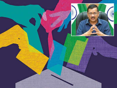 'Delhi polling booths to be vax centres'