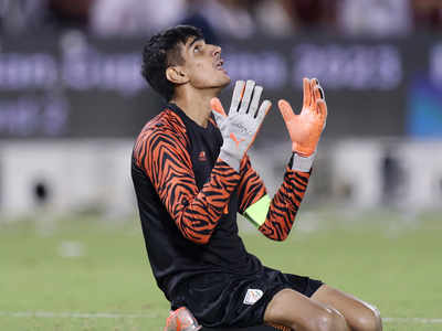 Football: Gurpreet Singh Sandhu leads India to goalless draw against Qatar in World Cup qualifier