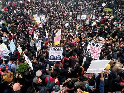 JNU crisis: Students, administration refuse to budge; women students at St. Stephens College protest on campus