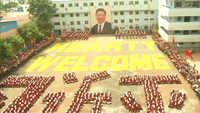 Watch: 2,000 school children's grand formation to welcome Chinese President Xi Jinping