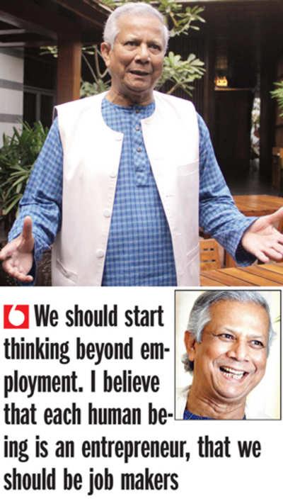 Create entrepreneurs, not slaves: Muhammad Yunus