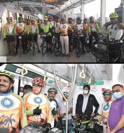 Cycling… via Metro