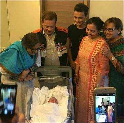 First picture of Salman's sister Arpita Khan's newborn is here