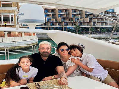 Sanjay Dutt returns to Dubai to be with family