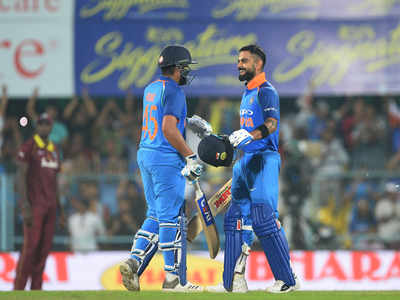 Live 1st ODI: Virat, Rohit hit tons as India cruise