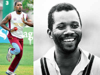 West Indies' fast bowler Malcolm Marshall's son Mali Marshall joins Ranveer Singh's '83
