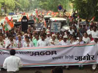 Goa: Congress holds the 'Corruption Virodhi Jagor' protest against corruption
