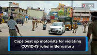 Cops beat up motorists for violating COVID-19 rules in Bengaluru