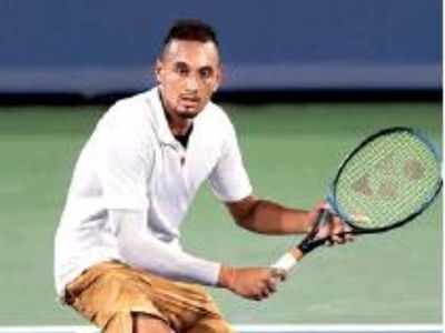 Nick Kyrgios loses temper again, smashes two racquets
