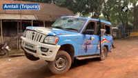 TMC MP Sushmita Dev's car vendalised in Tripura