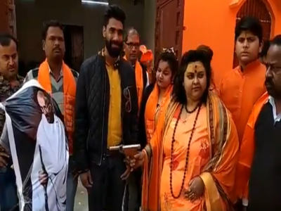 Watch: Hindu Mahasabha activist makes mock shooting video of Gandhi