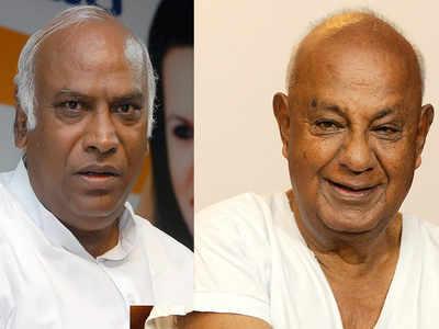 Congress, JD(S) finalise Mallikarjun Kharge and HD Deve Gowda for Rajya Sabha polls