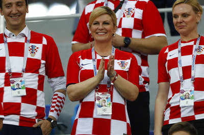 FIFA World Cup 2018: Video goes viral after Croatian President celebrates victory in front of Russian PM