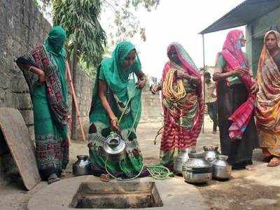 AT THIS AMRELI VILLAGE, 'WATER' PIPS 'JINGOISM' AS POLL ISSUE