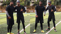 Ranbir Kapoor  and Arjun Kapoor put their best feet forward in football
