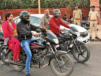 It is hell met for pillion riders without helmet