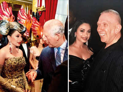 Sheetal Mafatlal chats with Prince Charles at the Animal Ball in London