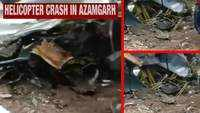 Visuals from the spot: Helicopter crashes in UP's Azamgarh; 1 dead
