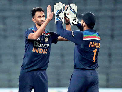 Debutants steal the show for India
