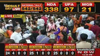 Lok Sabha poll results: Colourful celebrations at Mumbai BJP office