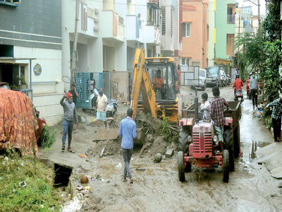 Video: Same old story: Encroached and choked drain wreaks havoc in Hosakerehalli