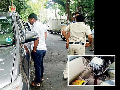 Thief eyes car stereo, makes away with Rs 8L kept in dashboard