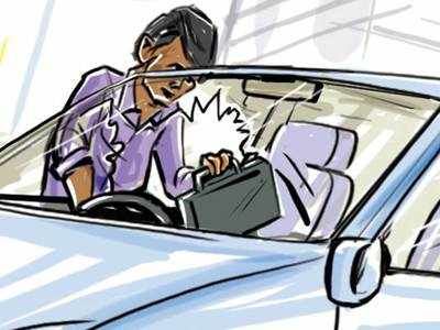 Rs 1 lakh stolen from parked car