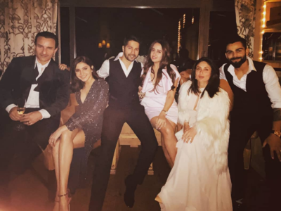 Photos: Anushka Sharma, Virat Kohli ring in the New Year with Kareena Kapoor Khan, Saif Ali Khan, Varun Dhawan and Natasha Dalal