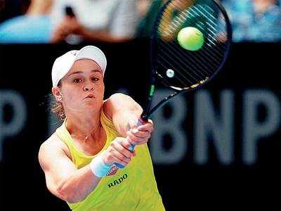 Barty bagels Garcia to even Fed Cup final