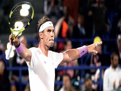 Rafael Nadal becomes first player to win five Mubadala World Tennis Championships