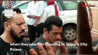 Salman Khan shoots in Jaipur