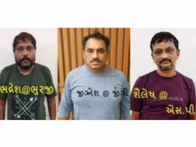 Ahmedabad crime branch arrests three persons who allegedly jumped parole period