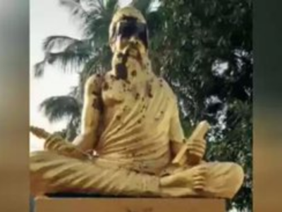 Thiruvalluvar statue desecrated amid political row over BJP trying to saffronise the poet-philosopher