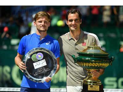 Roger Federer crushes David Goffin for 10th Halle title