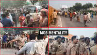 Watch: 2 cops injured after angry villagers pelt stone on Agra-Mathura highway