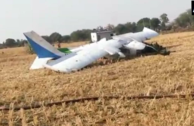 Breaking News Live:  Three pilots injured after an aircraft crashed in near Bhopal